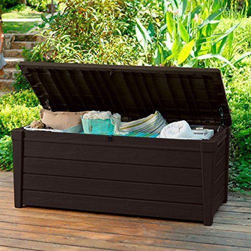 Outdoor Storage Benches Pool Deck Storage Box And Bench Is 2 In 1 Multifunctional Patio Deck Box Storage Plastic Garden Storage Box Outdoor Deck Storage Box
