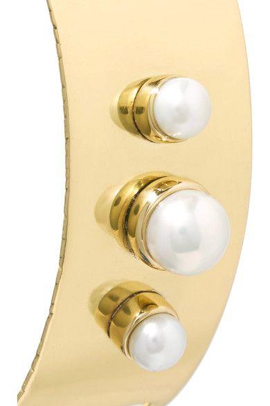 Gold-plated Pearl And Silk Earrings - one size Cornelia Webb xjFvA
