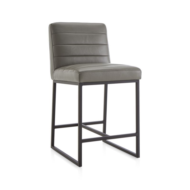 Channel Leather Counter Stool Leather Counter Stools Counter