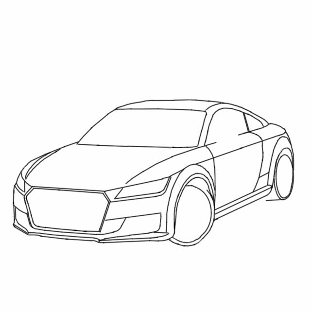 Sketch Stages Of The Audi Tt