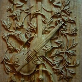 Doors - Agrell Architectural Carving - Wood carved Door panel - hand carved in Elm