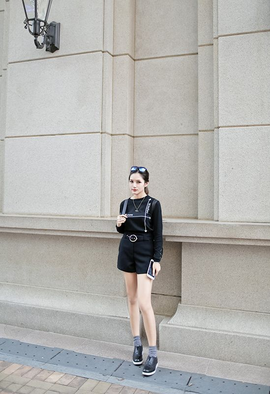 BEARUN独家制作 花雕纹 黑白拼色复古牛皮厚底小皮鞋-淘宝网