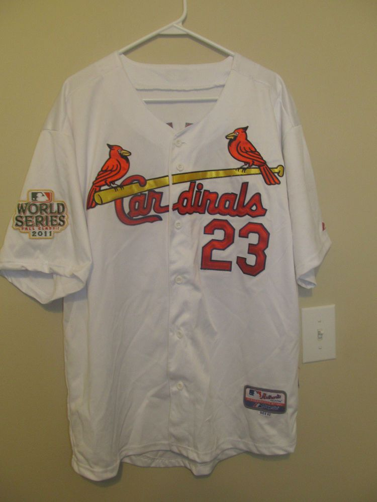 f2f20aaff69 David Freese - St. Louis Cardinals 2011 World Series Jersey - Majestic  Adult 52 #Majestic #StLouisCardinals