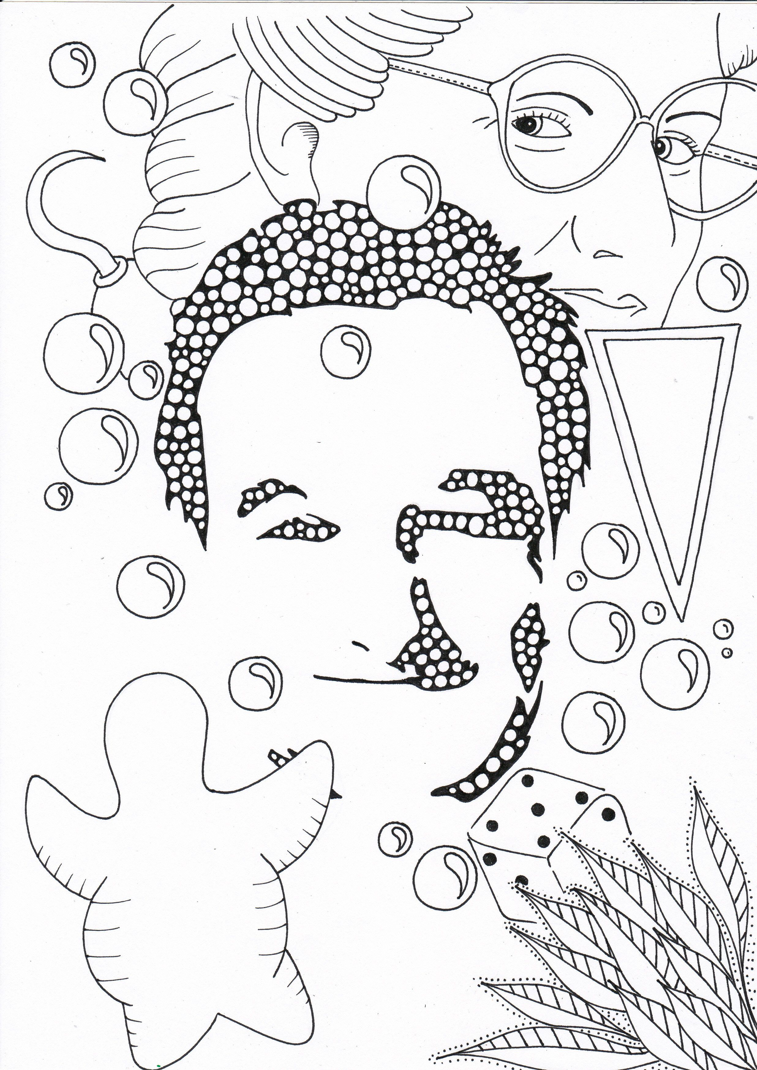 Pin By Małgorzata Ki A On Coloring Pages To Print Famous People