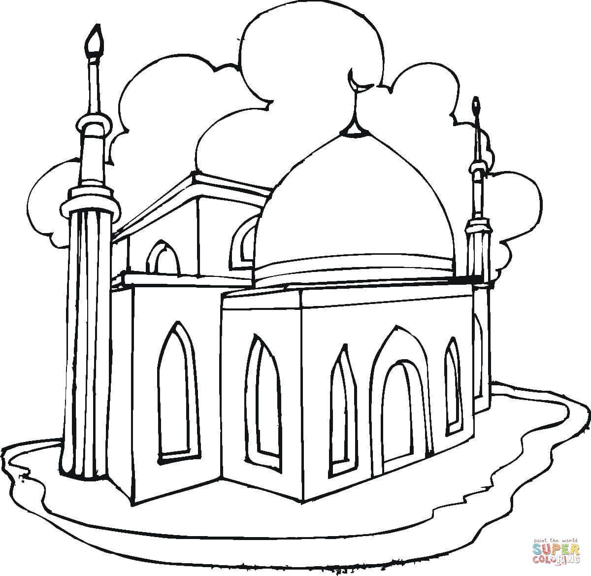 Ausmalbild Moschee Ausmalbilder Kostenlos Zum Ausdrucken Ausmalen Ausmalbilder Wenn Du Mal Buch