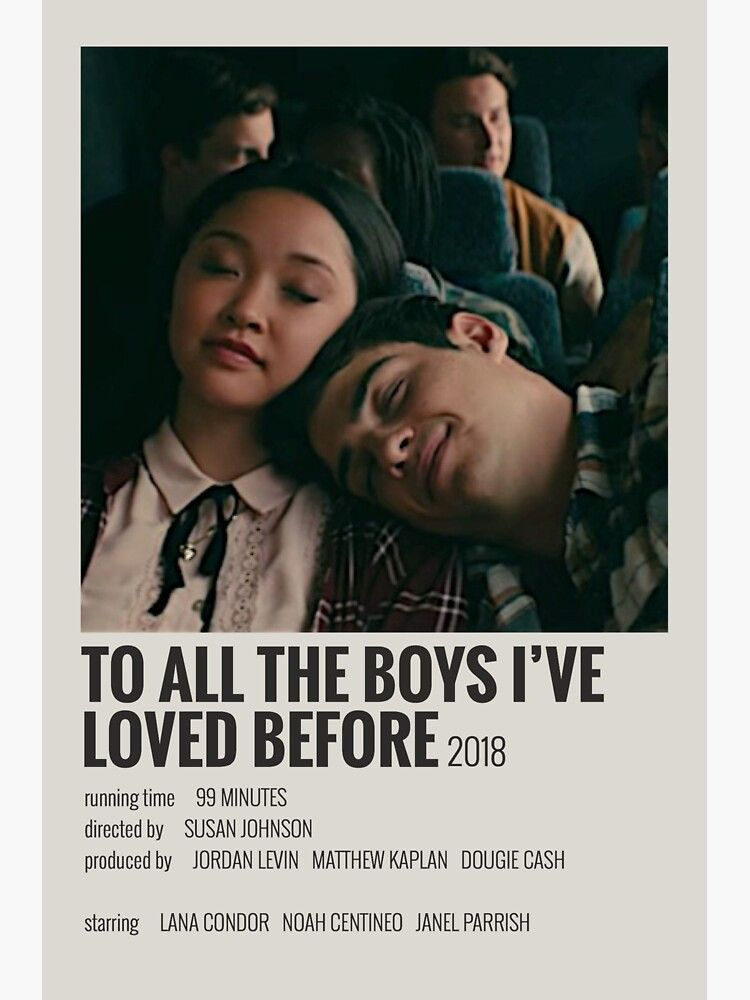 to all the boys ive loved before polaroid poster Sticker