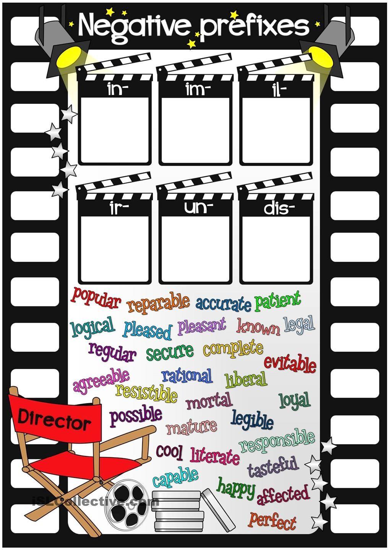 Negative Prefixes In Im Il Ir Un Dis Prefixes Prefix Worksheet English As A Second Language [ 1440 x 1018 Pixel ]