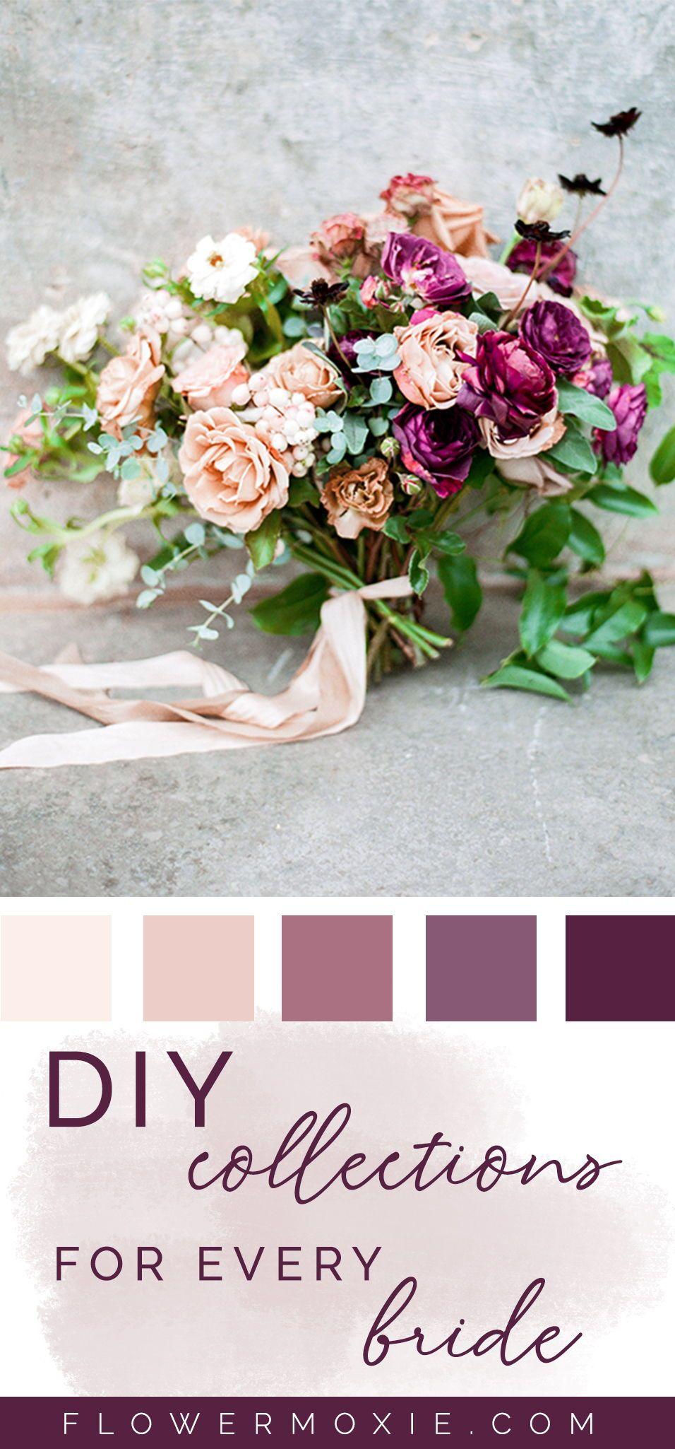 Get Inspired By Our Wedding Flower Packages Mix Match Flowers To Achieve The Look You Wan Wedding Flower Packages Diy Wedding Flowers Diy Bridesmaid Bouquet