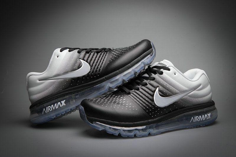 Leather Nike Air Max 2017 Gradual Change Black White Tick
