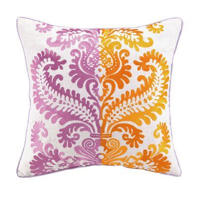 Sis Boom by Jennifer Paganelli Barcelona Embroidered Linen Throw Pillow Color: Jamie