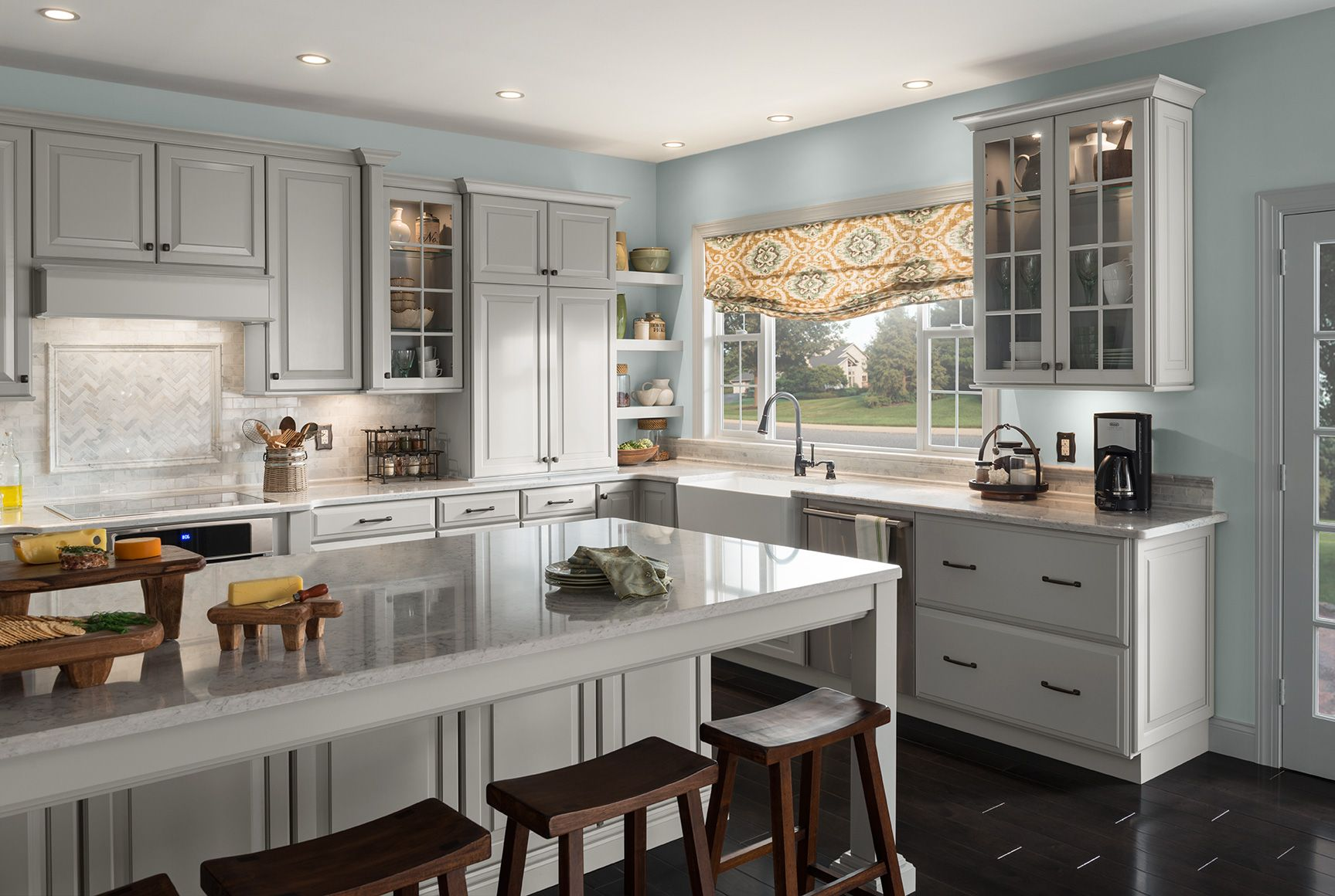 Shenandoah Cabinetry Kitchen, Painted Stone, Winchester Door