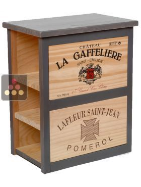 meuble de rangement en bois 8 bouteilles pierre goujon. Black Bedroom Furniture Sets. Home Design Ideas