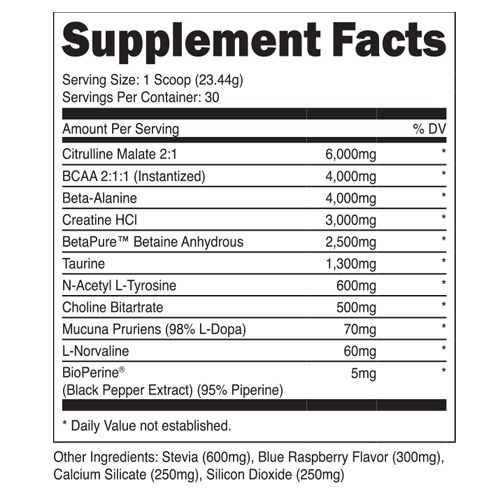 Transparent Labs Stim Free Pre Workout Preworkout Citrulline Malate Workout