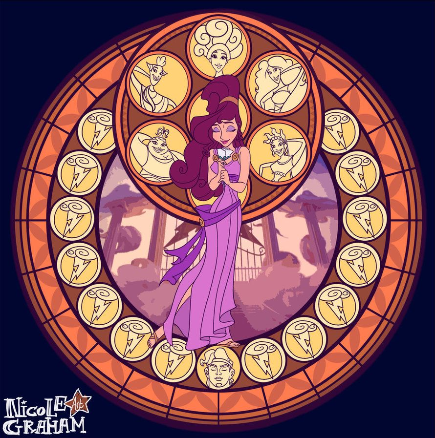 Kingdom Hearts Stained Glass FanArt Disney Princess Collection Available To Buy Here Society6 NicoleGraham Merida Q6N Print