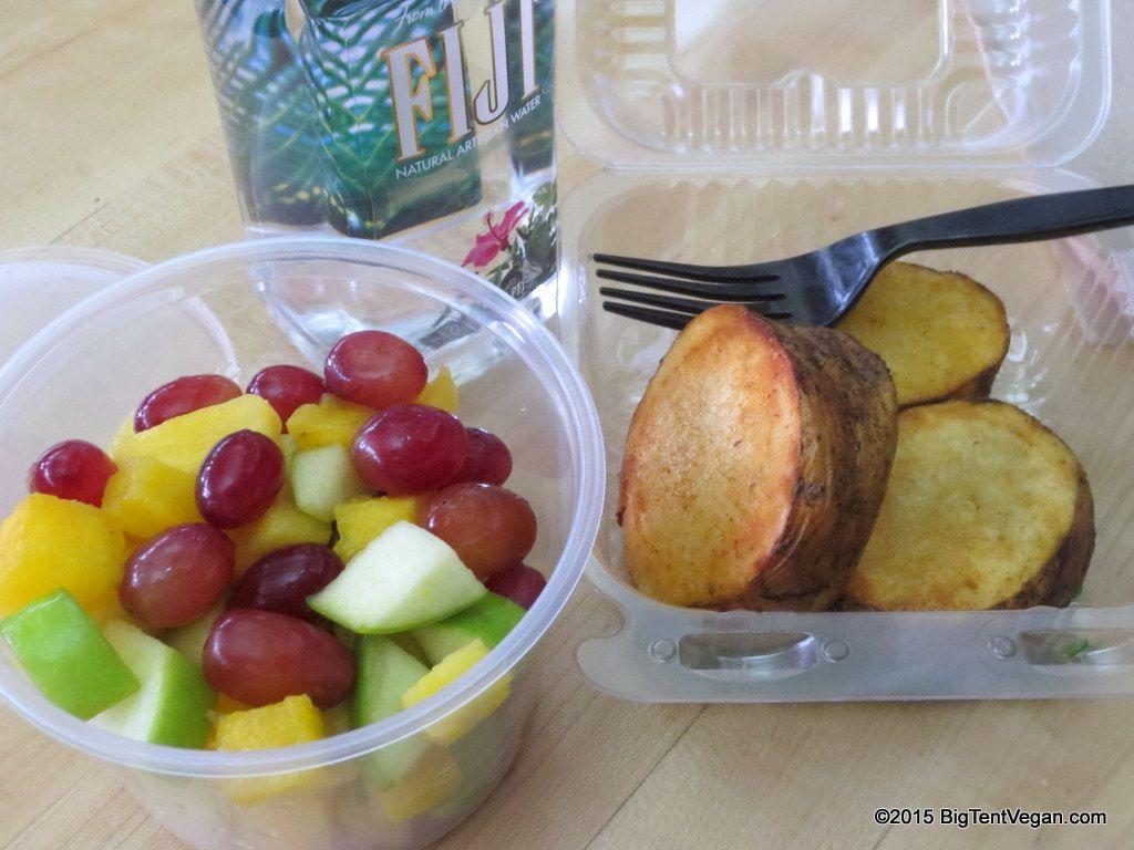 Roasted Potatoes And Fruit Cup La Grande Orange Phoenix Sky Harbor Airport Phx Terminal 4 Vegan Whole Food Recipes Vegan Food
