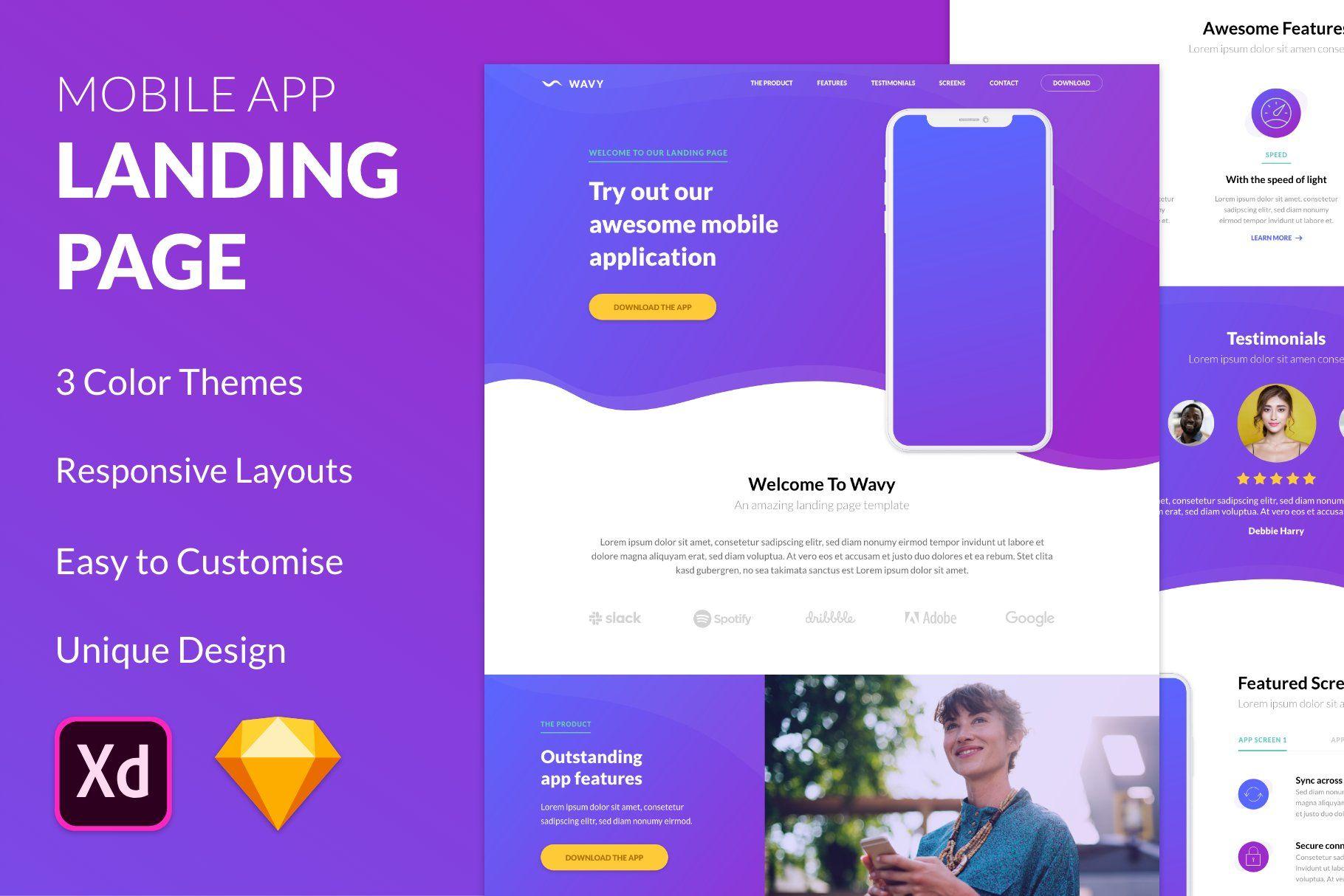 Mobile App Website Template from i.pinimg.com