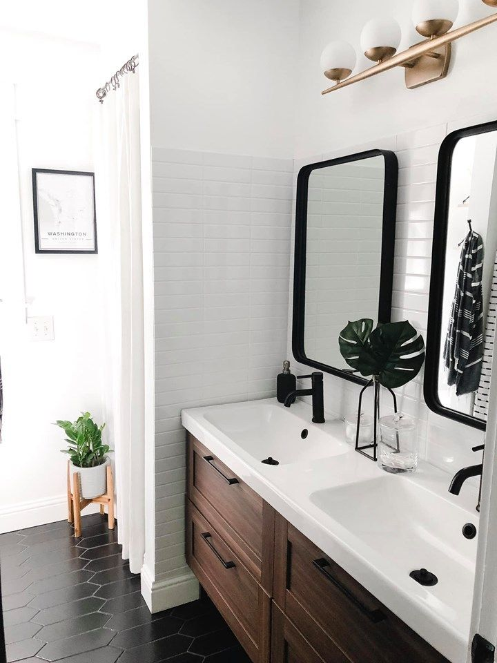 Boy's Mid Century Modern Bathroom Reveal - Home on Mount Forest