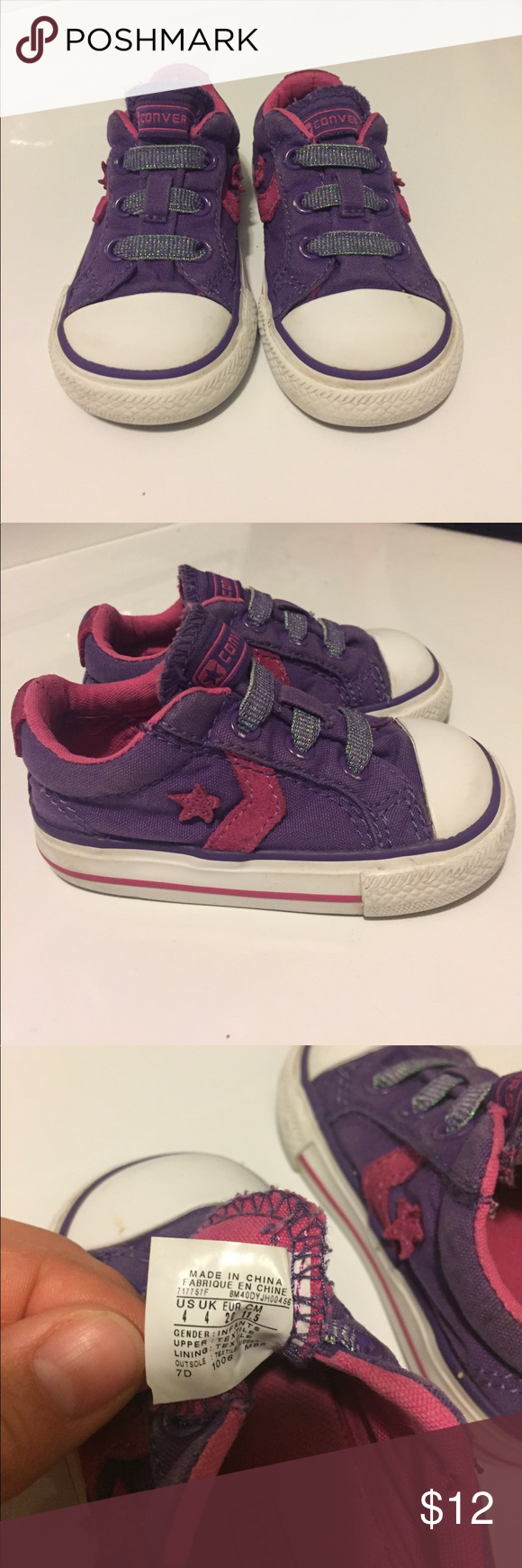 Size 4 baby girl Converse Shoes