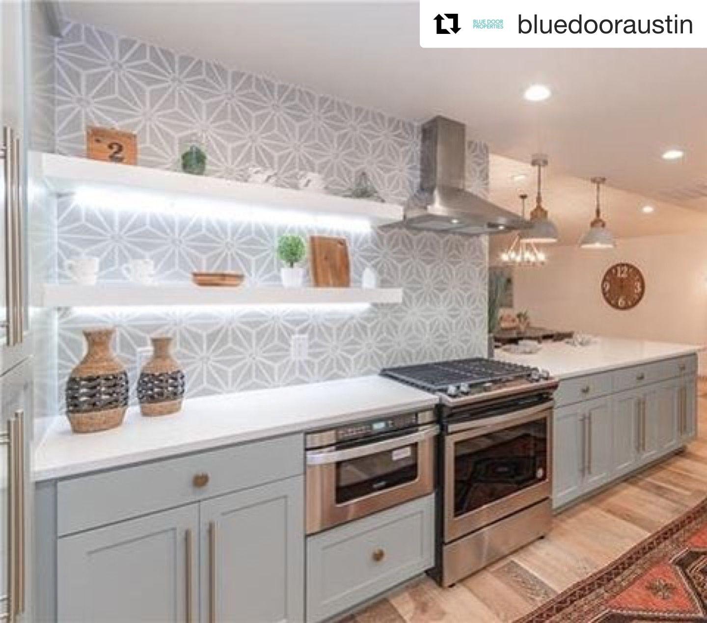 - Knox Grey: Geometric Tile, Cement Tile Kitchen Renovation, Black