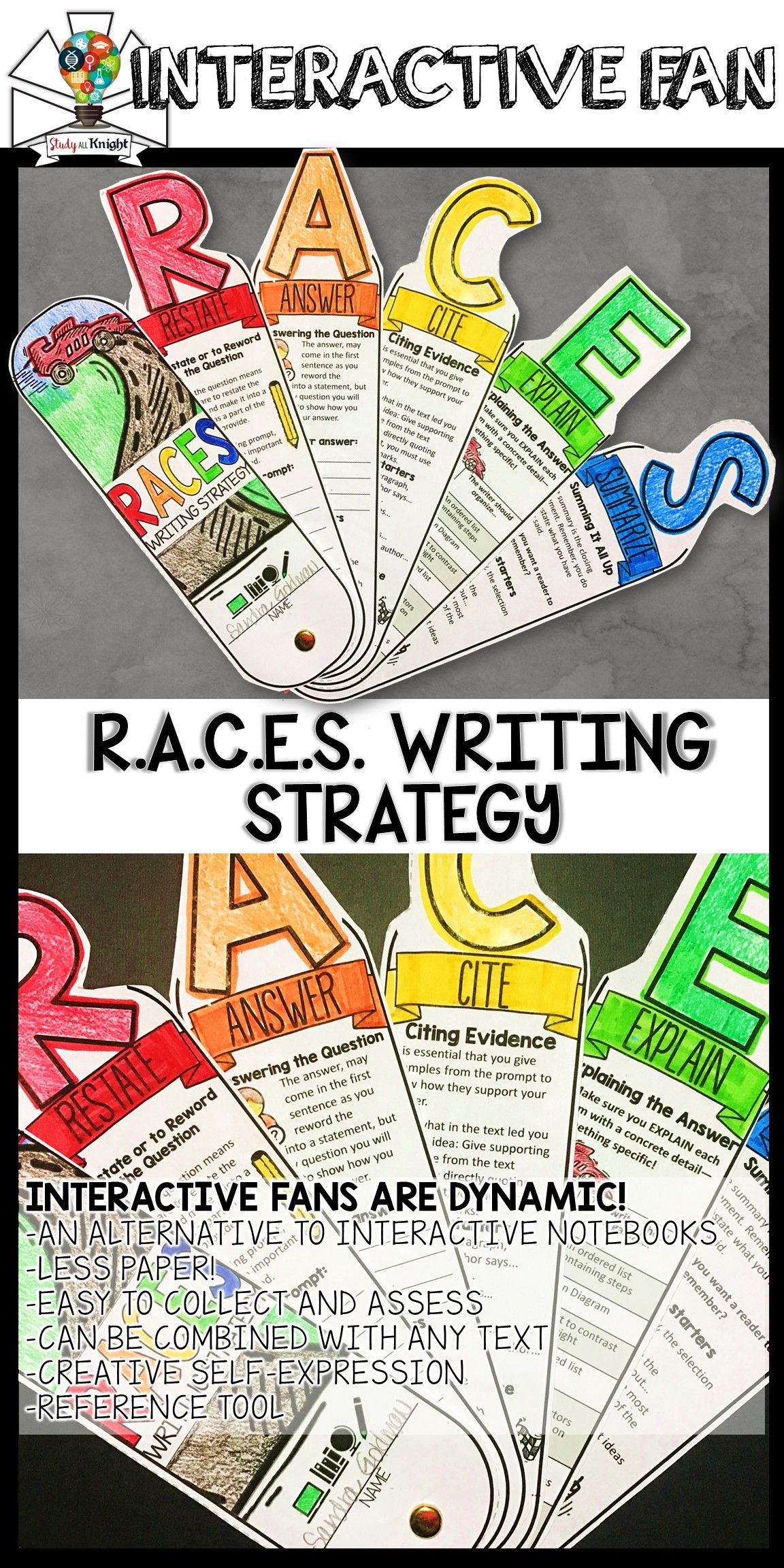 Races Writing Strategy Response Writing Interactive Fan