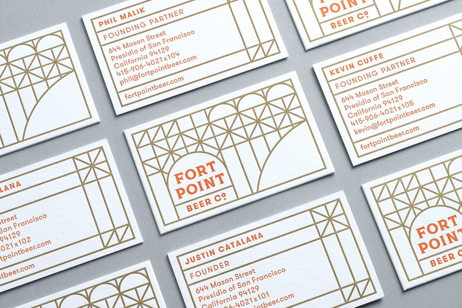 Business card design by Manual for Fort Point craft brewery ...