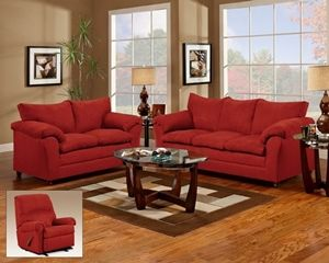 Red Suede Sofa Living Room