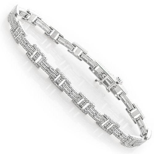 34 Grams Unique Diamond Set: This 14K Gold Ladies Diamond Bracelet Features 2.75 Carats