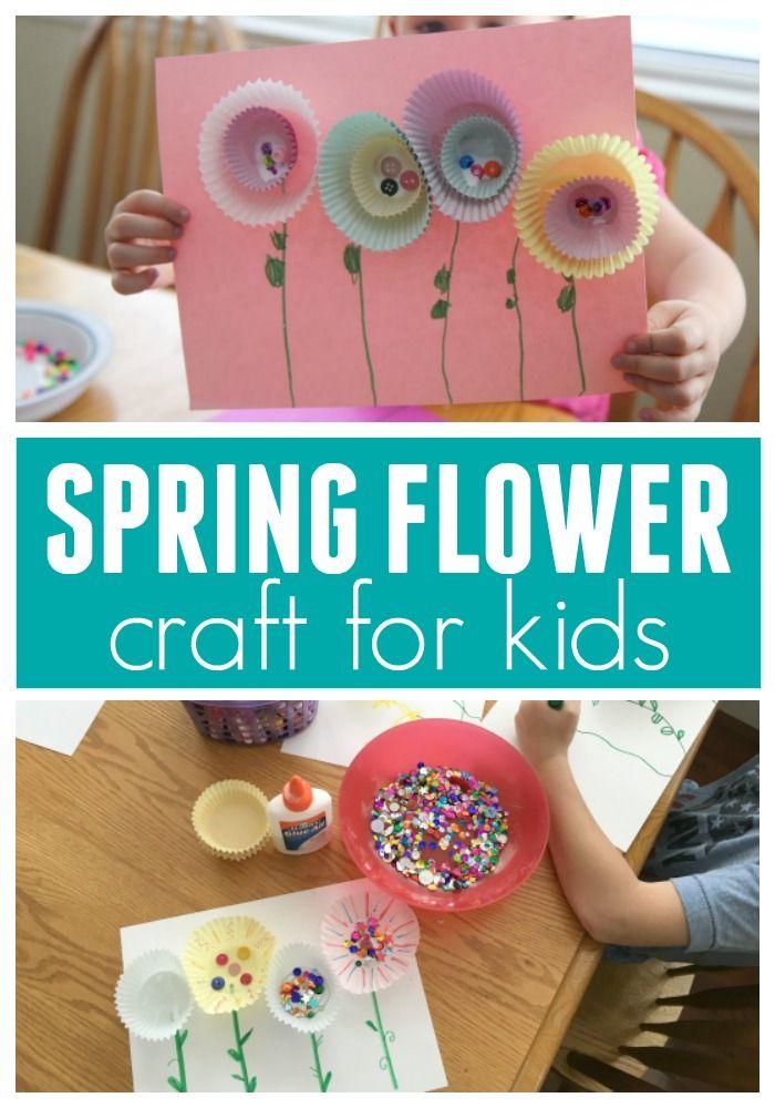 Simple Spring Flower Craft Spring Crafts Activities Spring