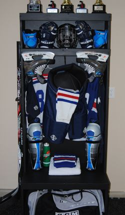 Wood Hockey Lockers Man Cave Pinterest Lockers