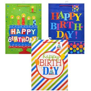 Voila Extra Large All Age Whimsical Birthday Gift Bag