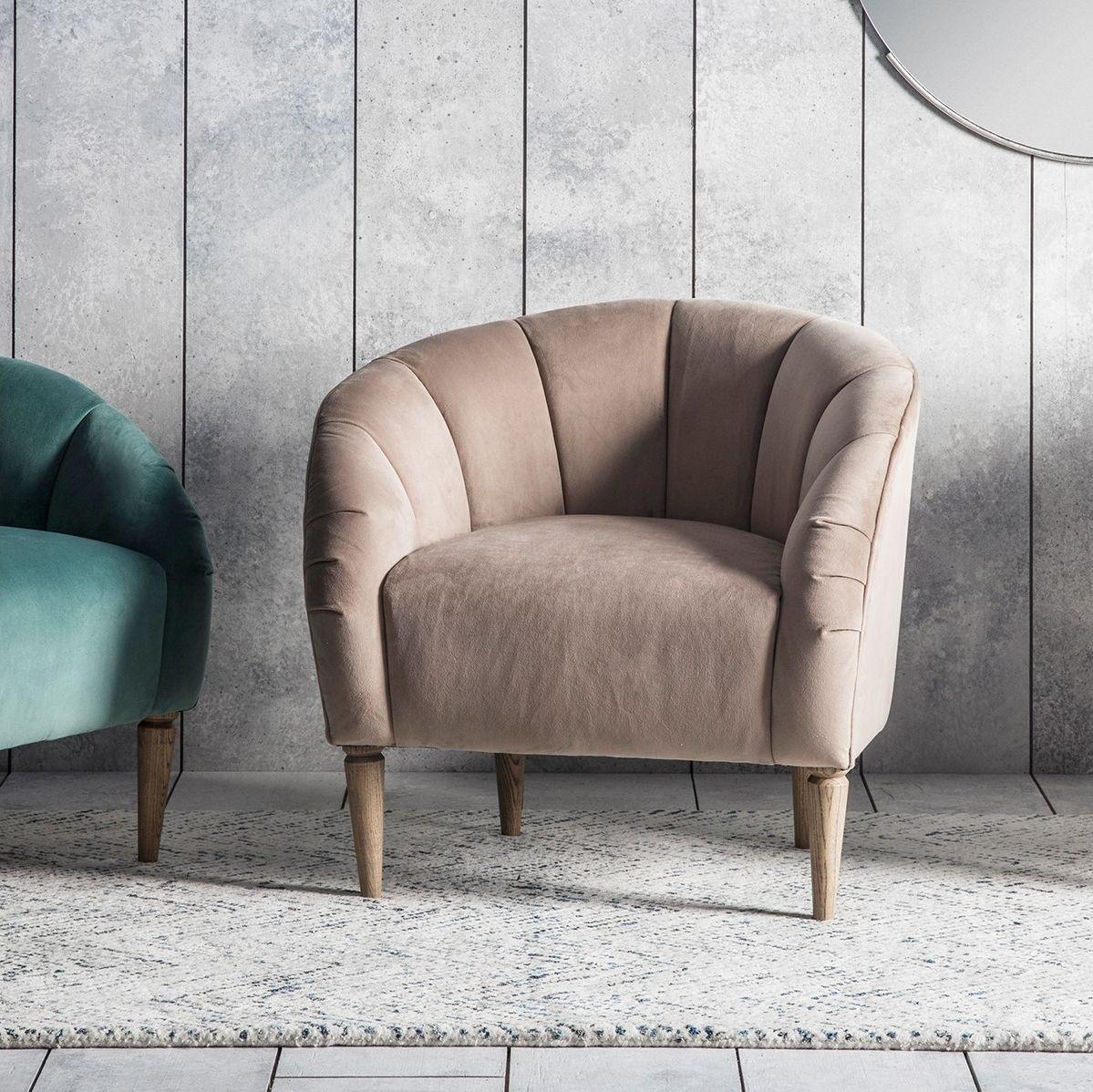 Gallery Tulip Chair Cream Velvet Elegant statement