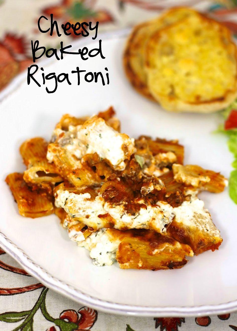 Cheesy Baked Rigatoni Recipe   Rigatoni, Italian Sausage, Spaghetti Sauce,  Cream Cheese,
