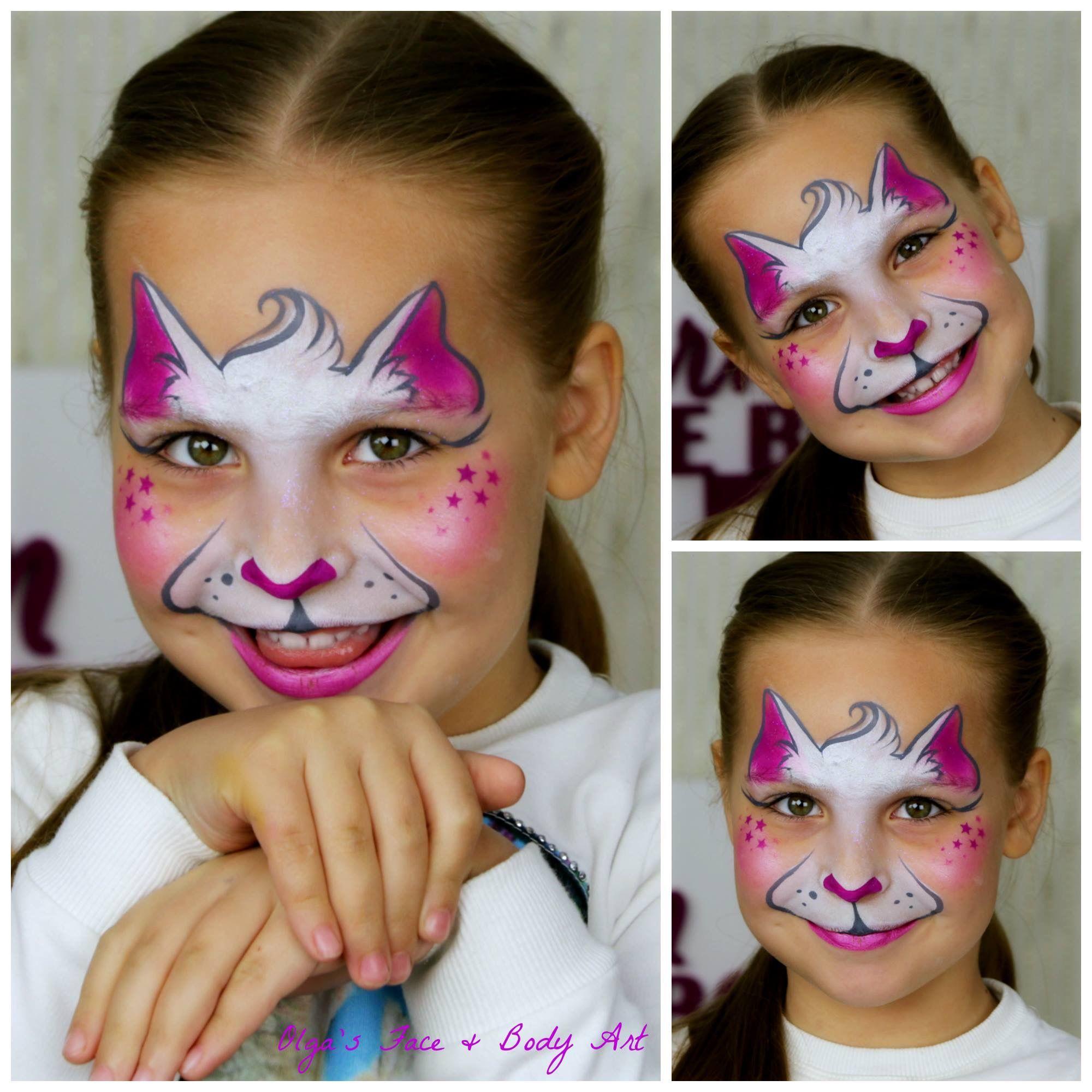 Bemerkenswert Gesicht Bemalen Galerie Von Katzen, Schminkanleitungen, Schminkvorlagen, Bodypainting, Streichtipps, Katzen Gemälde,