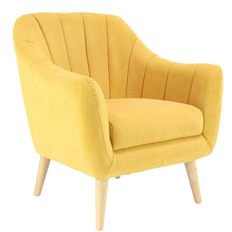 Veasley Modern Cushioned Armchair #yellowarmchair White Bedroom