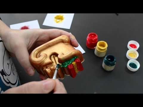 Ζωγραφική στο σαπούνι γλυκερίνης - Με χρώμα εξωτερικής βαφής και γκλίτερ - YouTube