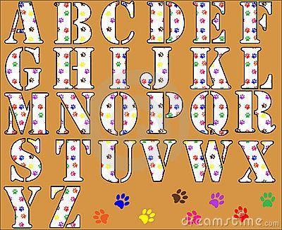 Paw Patrol Alphabet | Free Printable Funny Alphabet Letters | Paw Print Alphabet  Letters .