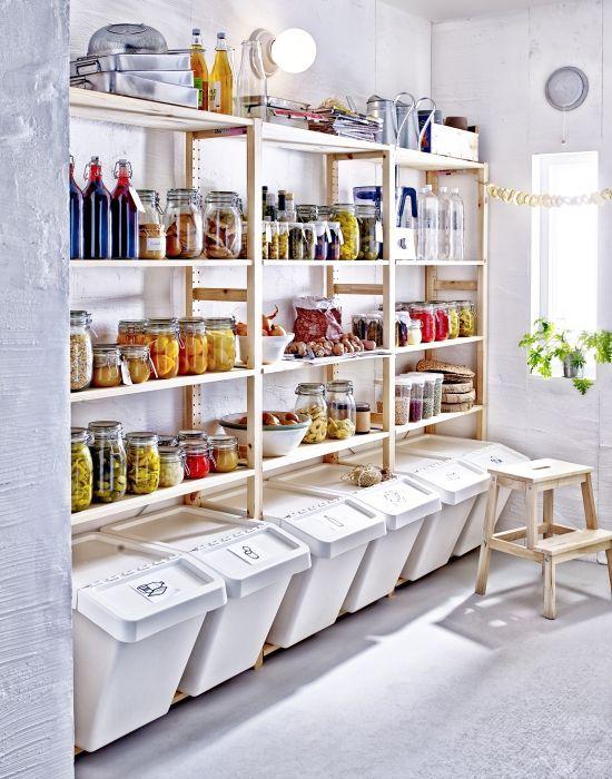 5 id es de garde manger pratiques tendance copier rangement organisation pinterest. Black Bedroom Furniture Sets. Home Design Ideas