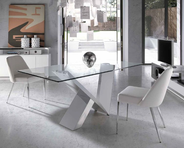 Mesa de comedor cristal templado mesa de comedor de - Mesas de vidrio templado ...