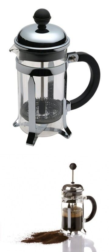 Brandani 3 Cup French Press Coffee Maker 12 Oz Chrome French Press Coffee Maker Coffee Maker French Press Coffee