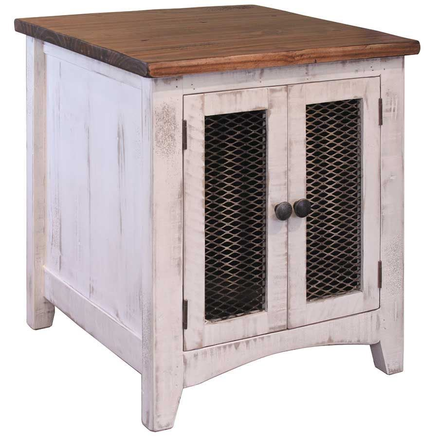 Pueblo White End Table White End Tables Wood Doors Interior Wooden Doors Interior