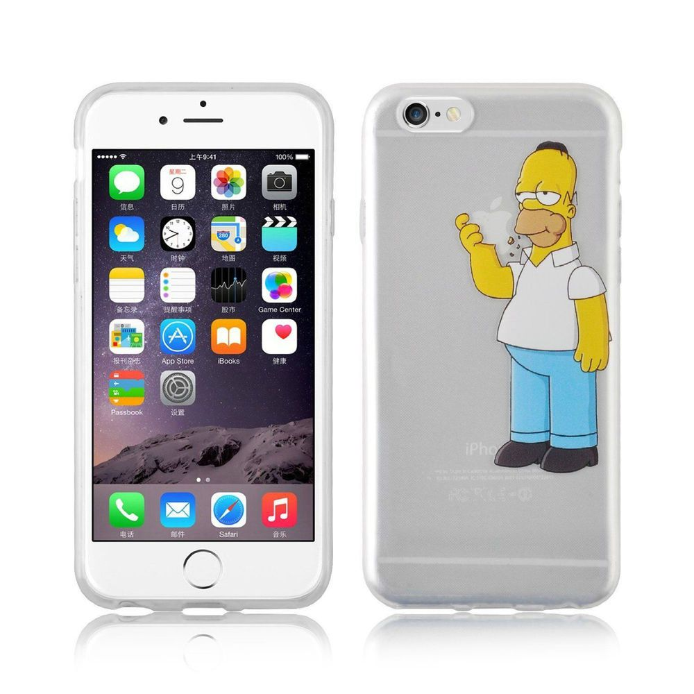 sports shoes ad075 499b6 HOMER SIMPSON Iphone 5S cases eating biting Apple The Simpsons Clear ...