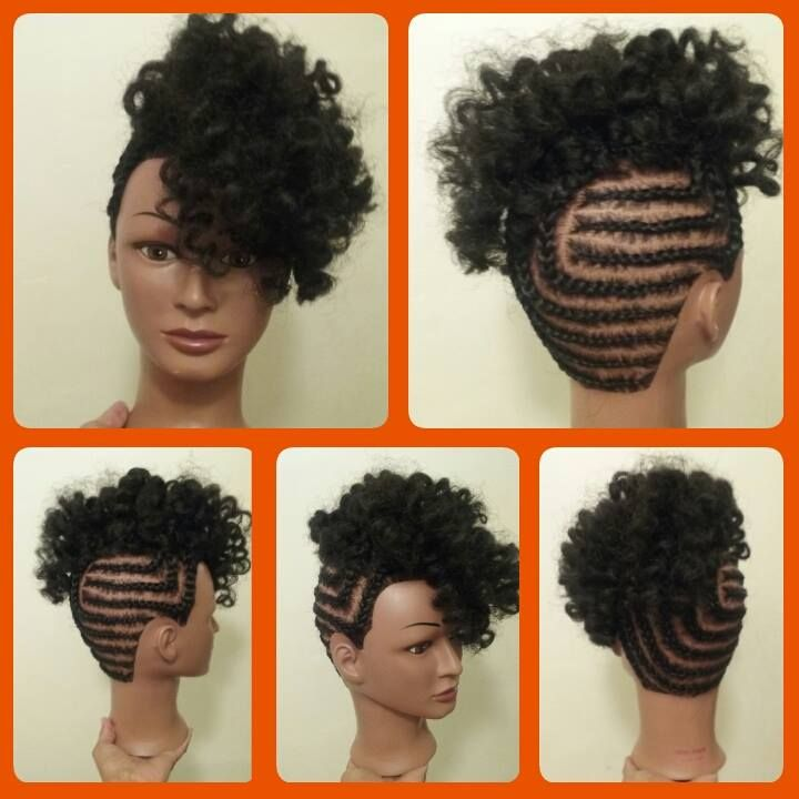 Braided Updo With Crochet Braids In 2019 Black Hair Updo