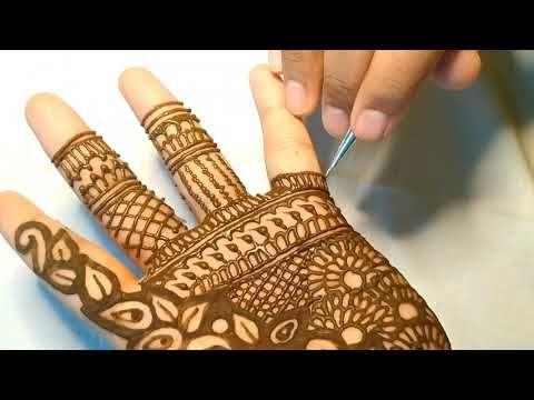 Bridal mehandi tutorial | Simple bridal mehandi in just 15 mins #bridalmehandi #simpledesign - YouTube