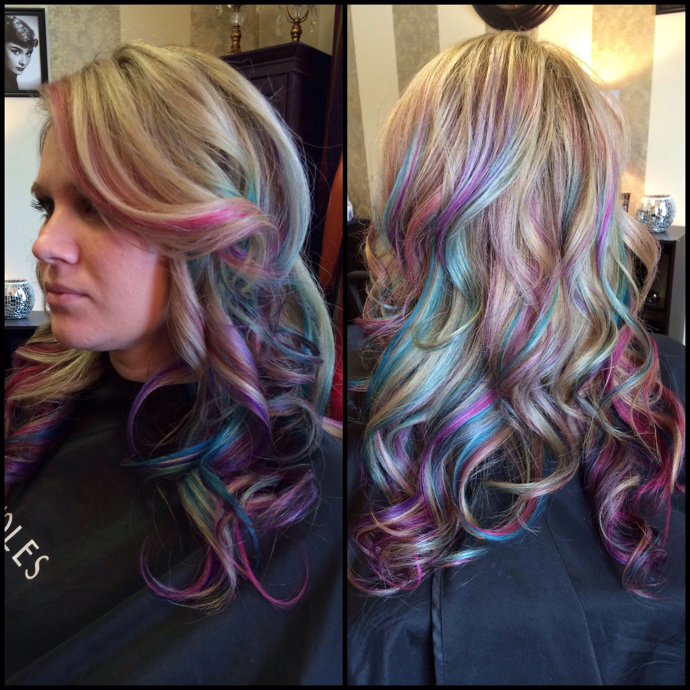 My fun color project pink purple blue hair Hair p