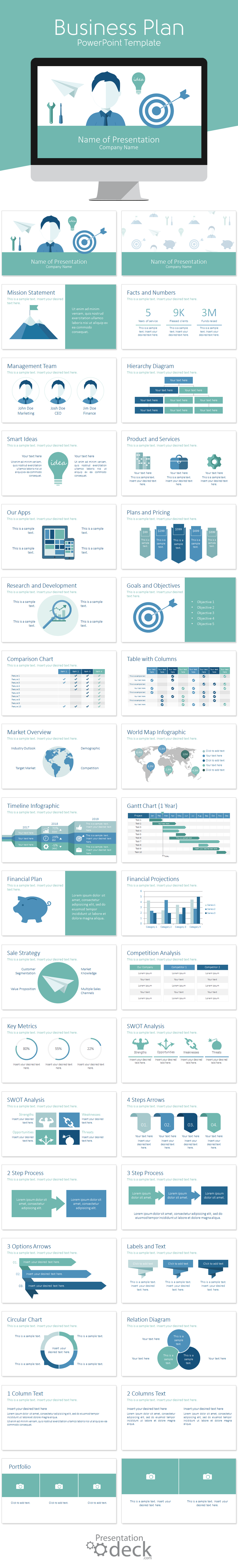 Business plan powerpoint template powerpoint templates pinterest business plan powerpoint template in flat design style with 36 pre designed slides this deck includes slides on the following topics mission friedricerecipe Images