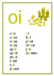 Photo of words with oi at the start | oi reading worksheet oi reading…