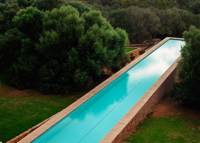 Above Ground Lap Pools pools with style. cement, resin above ground pool. see blog for