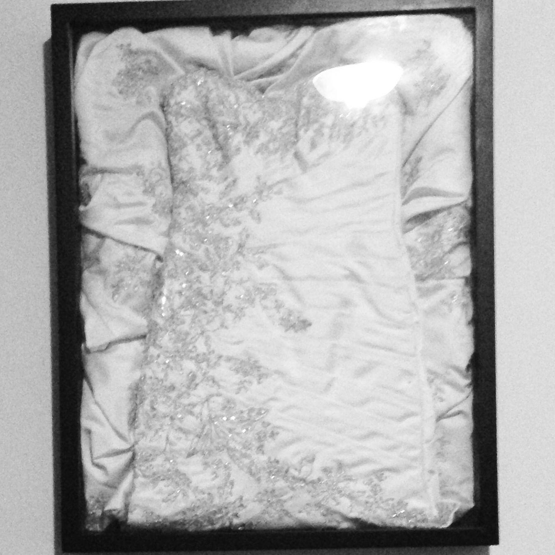 wedding dress storage box Wedding dress framed Preserving your wedding dress