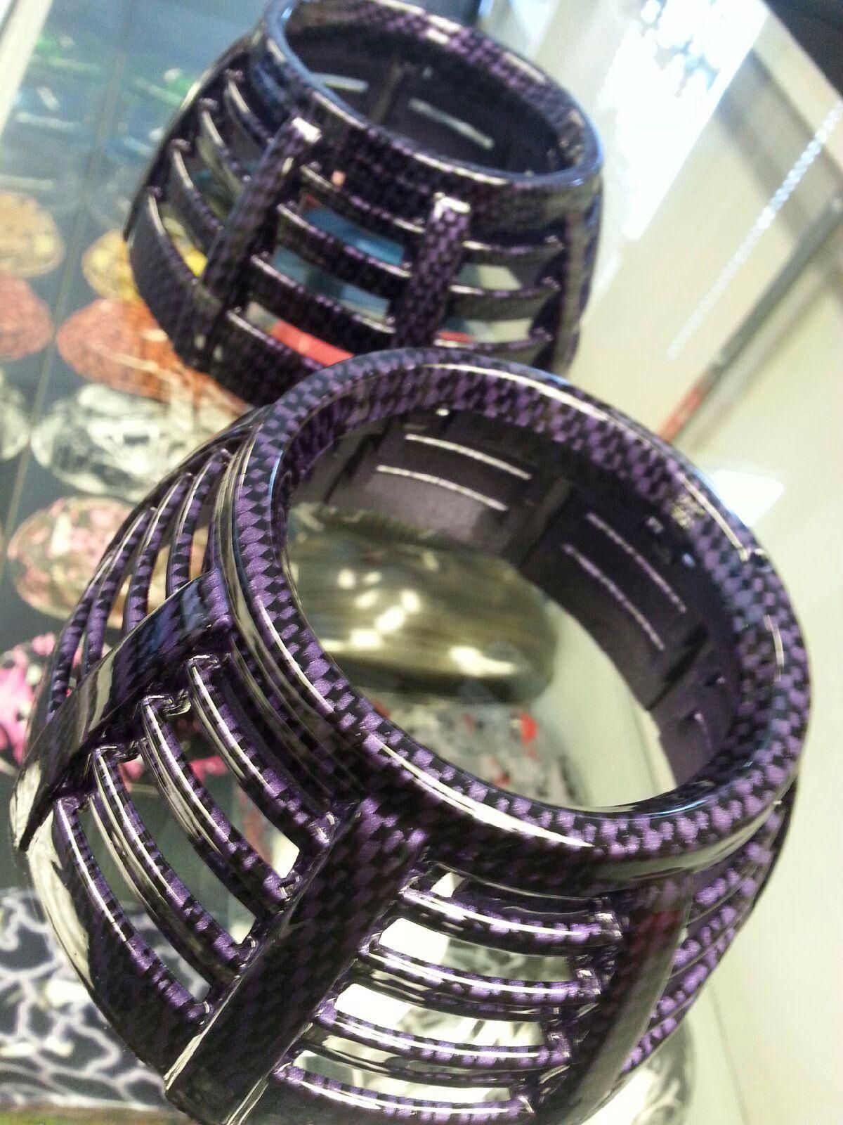 Custom Purple Carbon Fiber Hydro Dipped Headlight