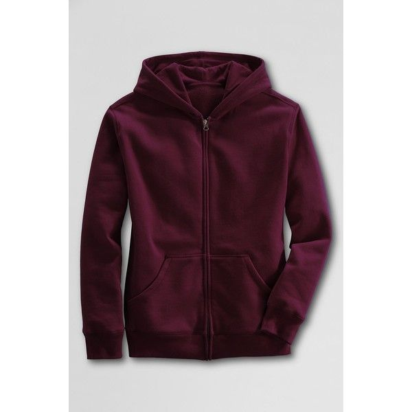 Lands  End Hooded Zip-front Sweatshirt ( 35) ❤ liked on Polyvore featuring  tops 8fff8085d